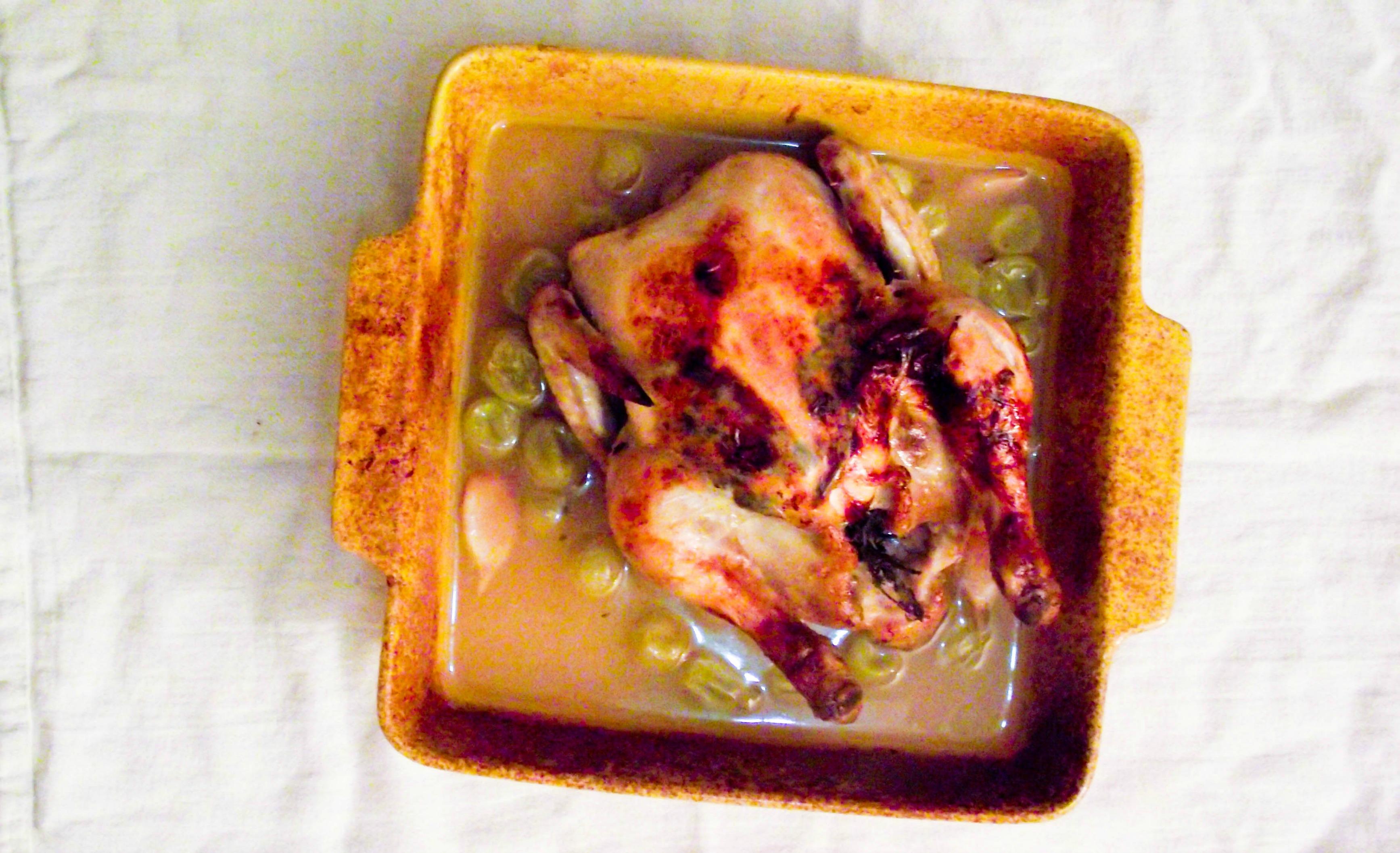 Poulet rôti au muscat et aux raisins & les traditions