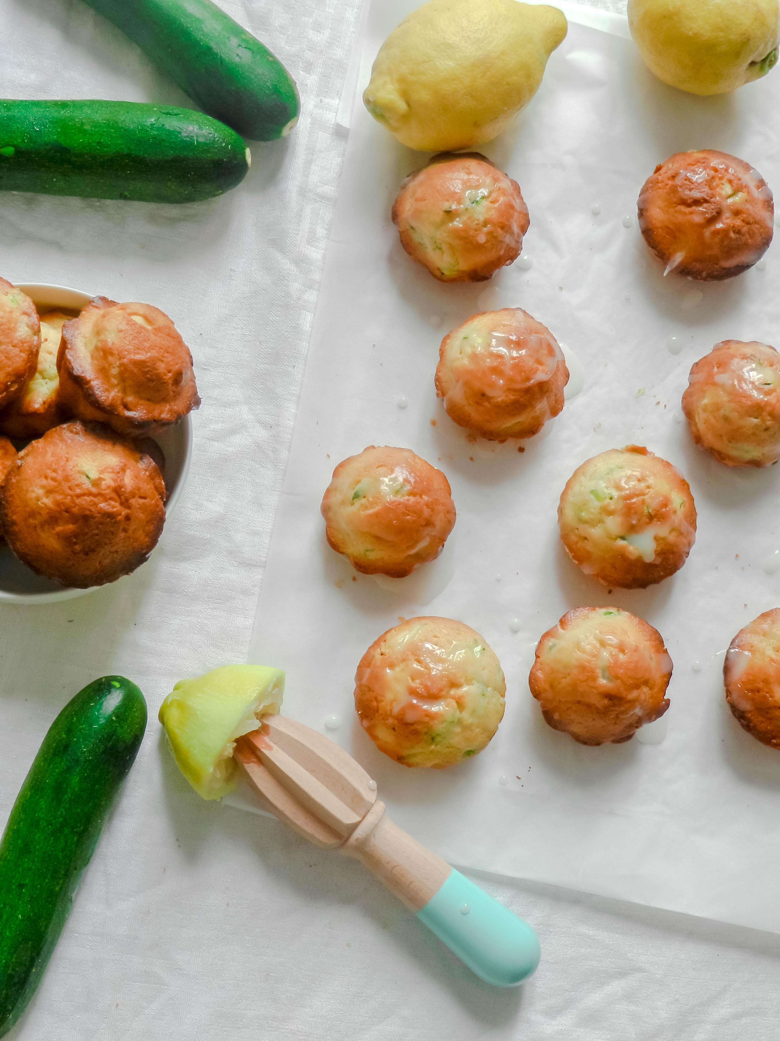 Muffins aux courgettes et au citron